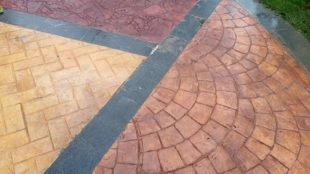 Best Selling Rubber Stamped Concrete Mold Paving Patterns