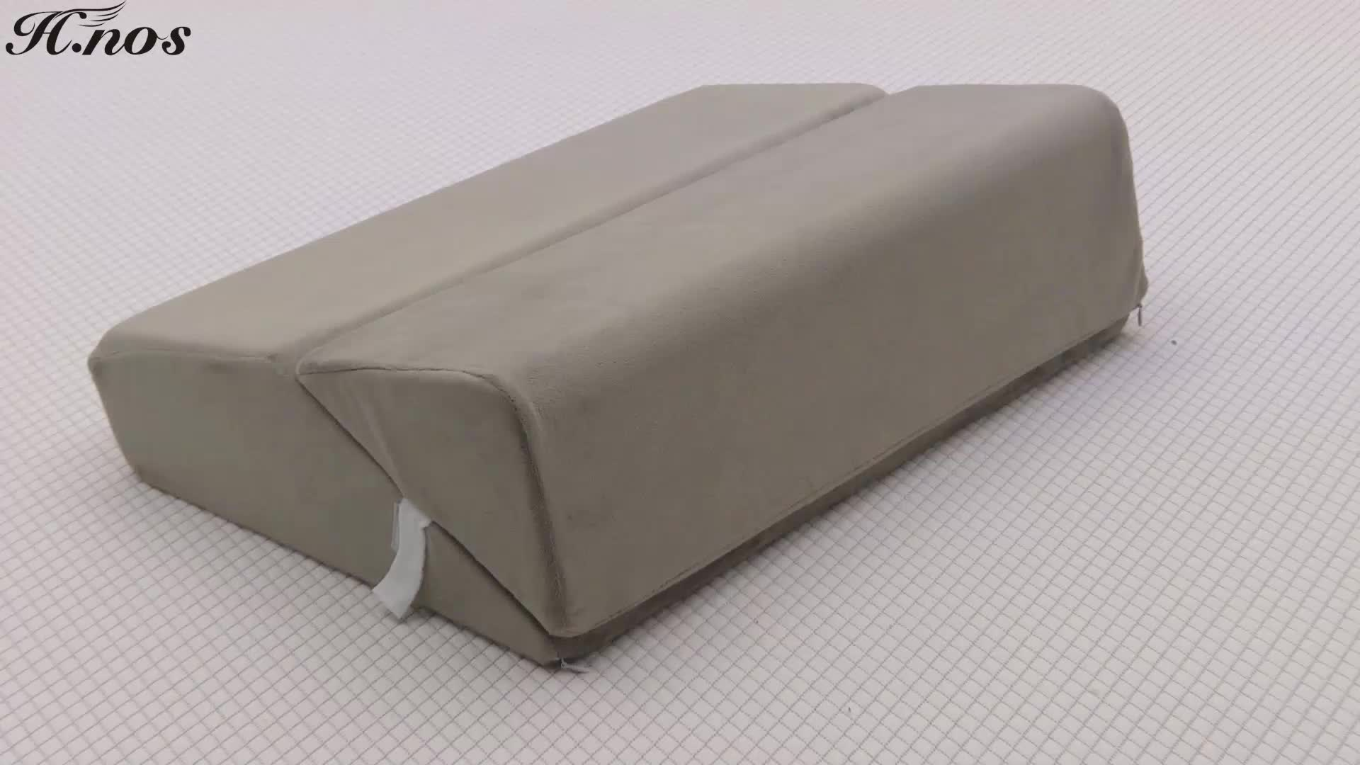 輪郭製品脚エレベーター折りたたみベッドウェッジメモリ泡トライアングル形ウェッジ枕