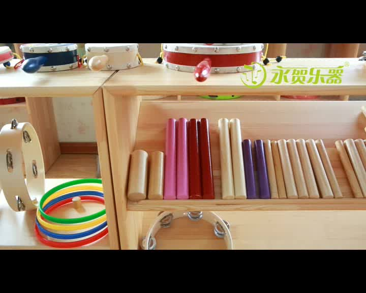 kids percussion musical instrument wood claves