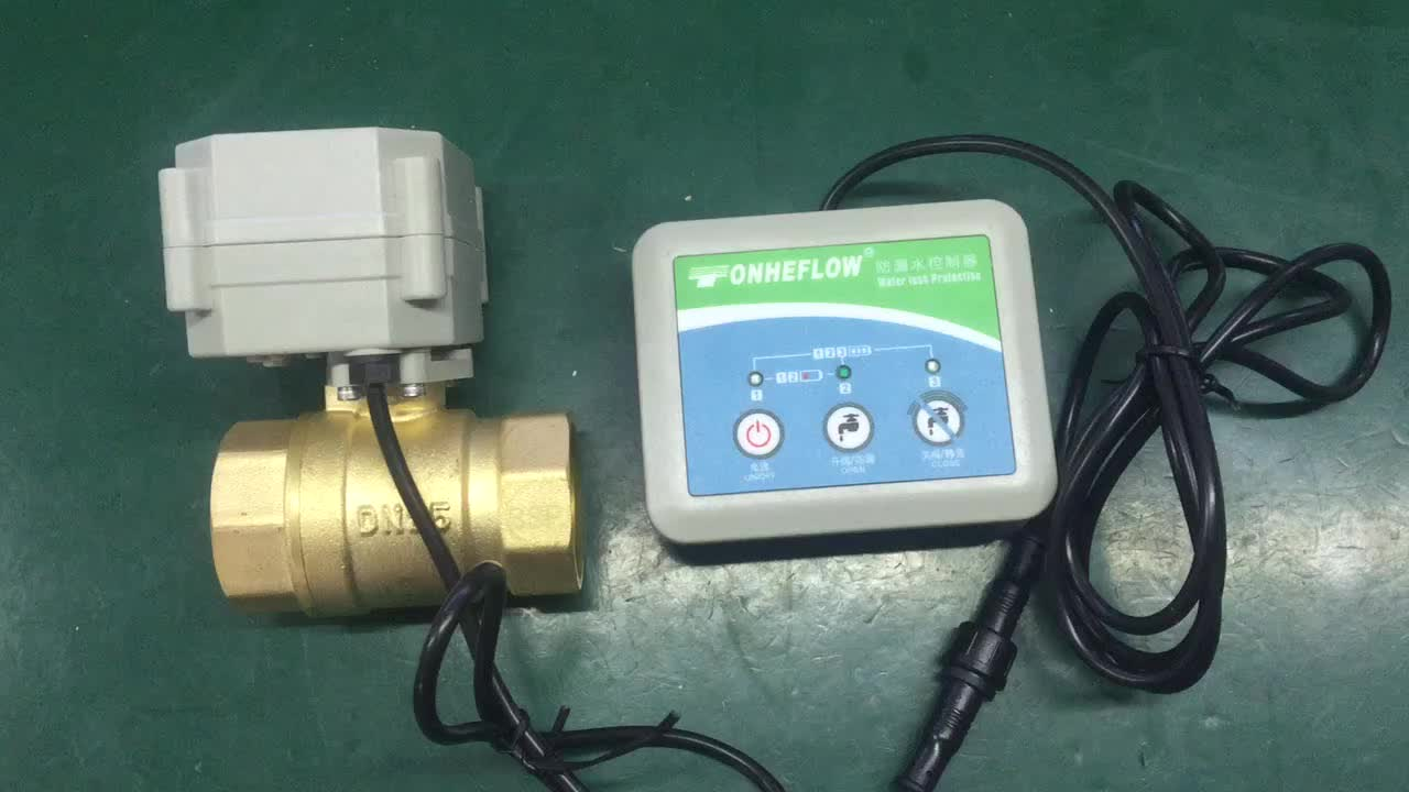 2-way DC12 motorized ball valve for water leak detection