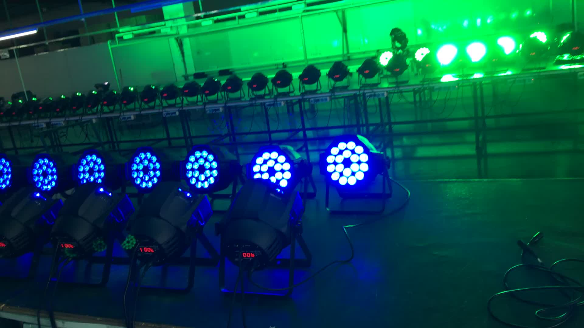 Hot selling 18 x 18w 6in1 RGBWAUV LED stage light price