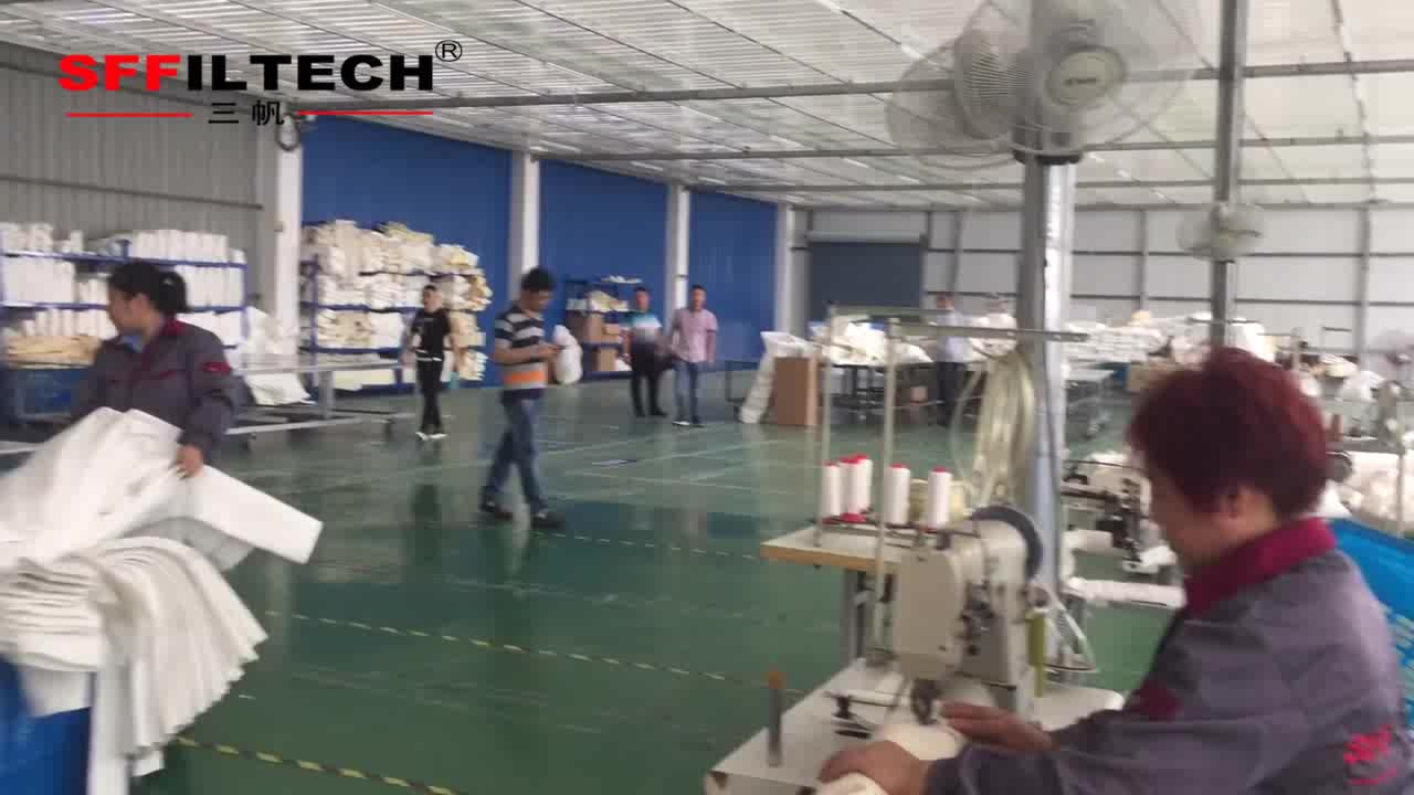 Industry Polyester Dust Collector Filter Bag For Cement Mine Iron Food Pharmacy Bag House