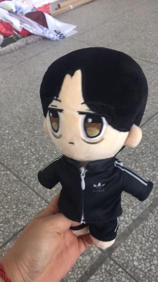 Personnalisé idole étoile en peluche jouets bonecas bebe reborn de personnage de dessin animé conception vêtements pour poupées