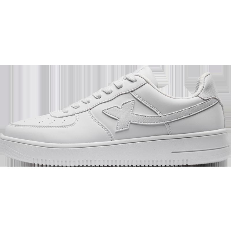 特步男女情侣板鞋运动鞋休闲小白鞋