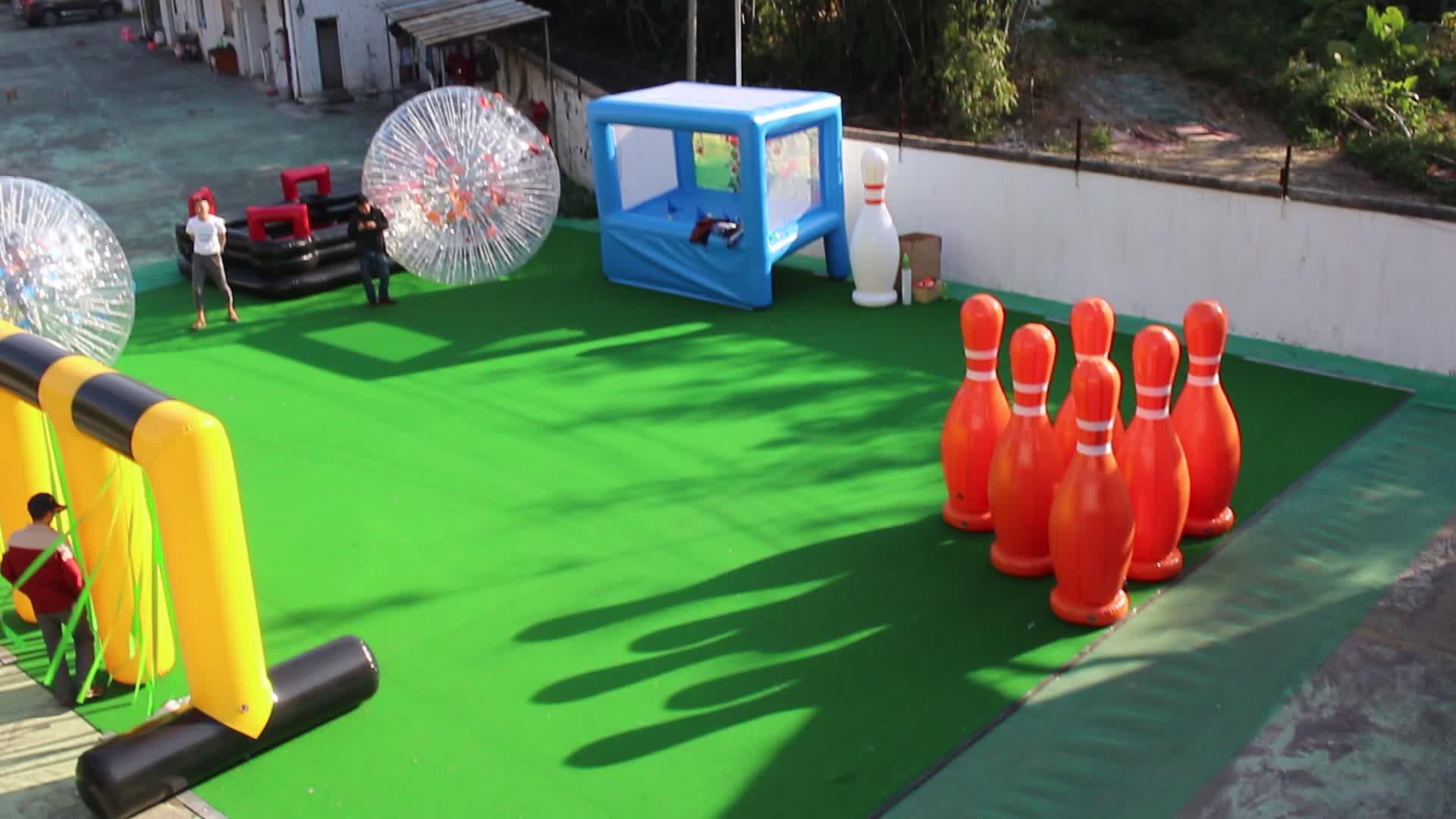 giant custom inflatable human bowling ball for sale
