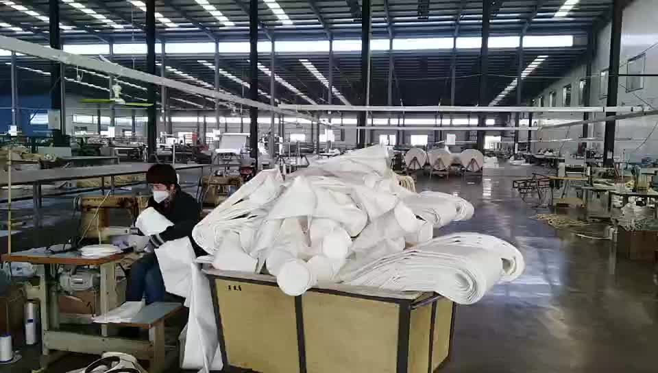 China suppliers bag house filter polyester nonwoven fabric dust filter bag