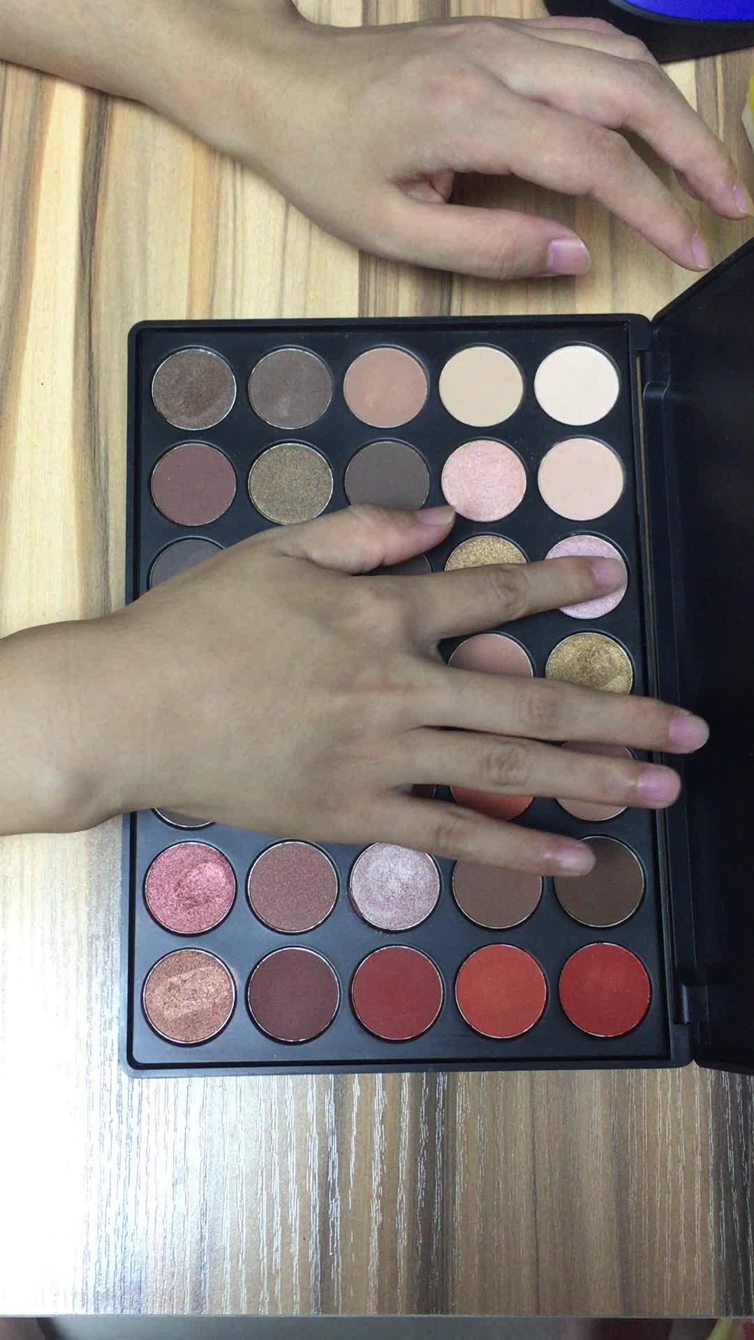 Nuovo ordine all'ingrosso nk trucco private label 35 di colore eyeshadow palette
