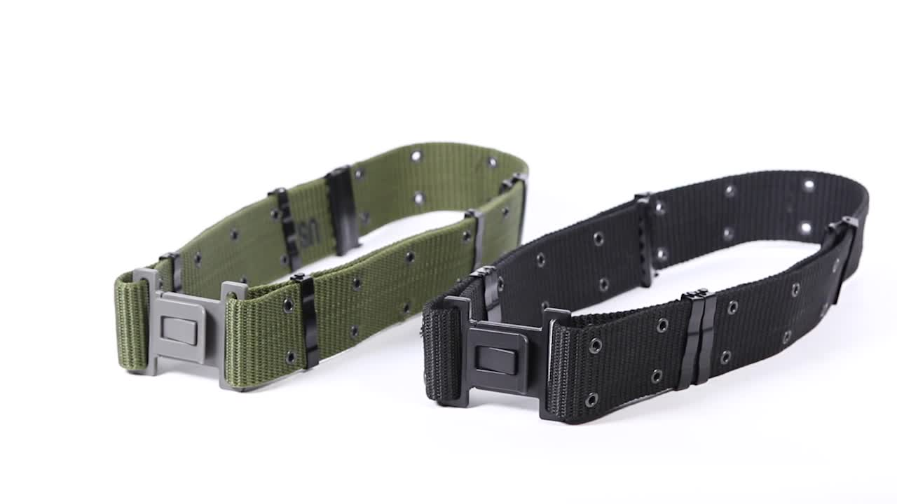 Malaysia 3 sets White Color Army Webbing Belt Tactical Belt