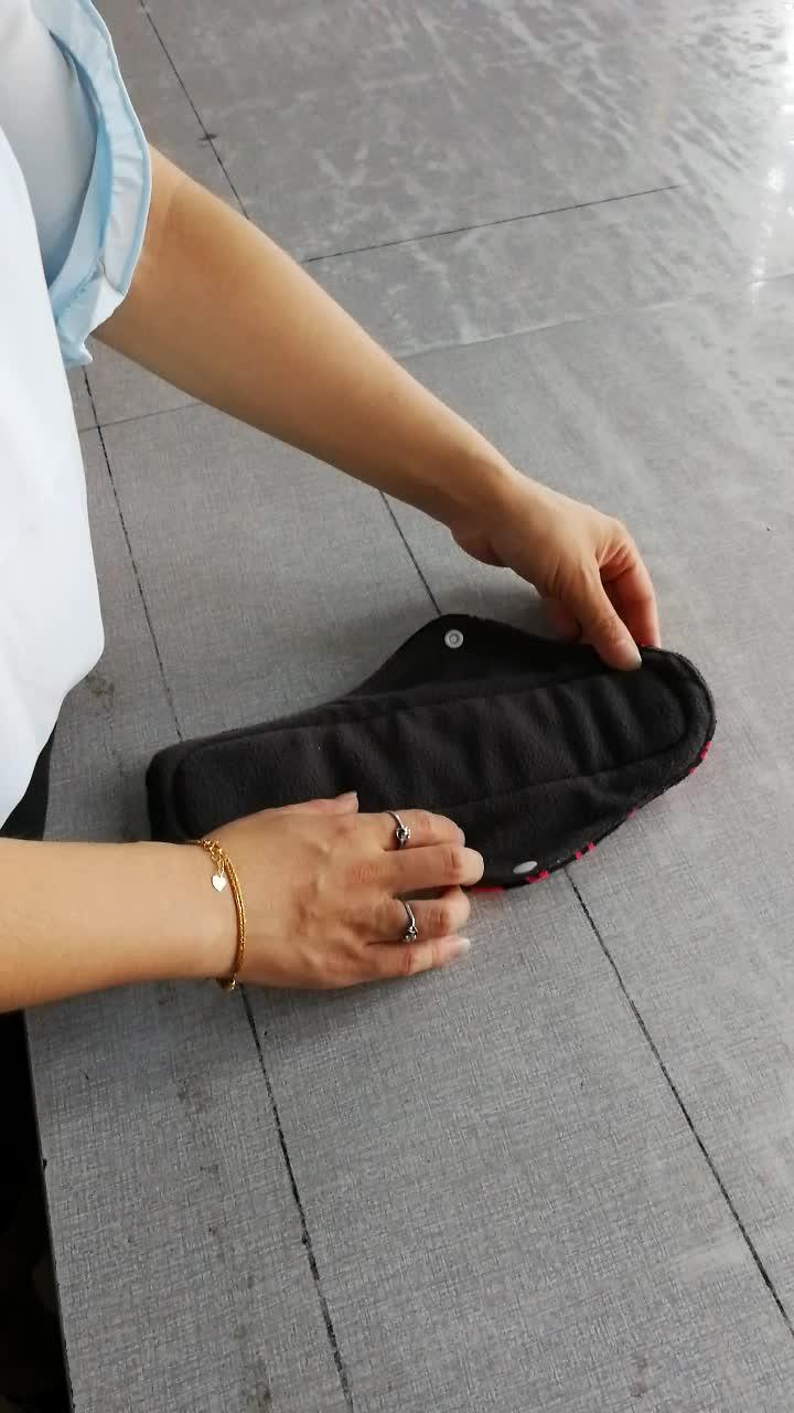 洗える竹炭女性女の子フェミニン月経布パッド再利用可能なソフトパンティライナー通気性生理用ナプキンパッド