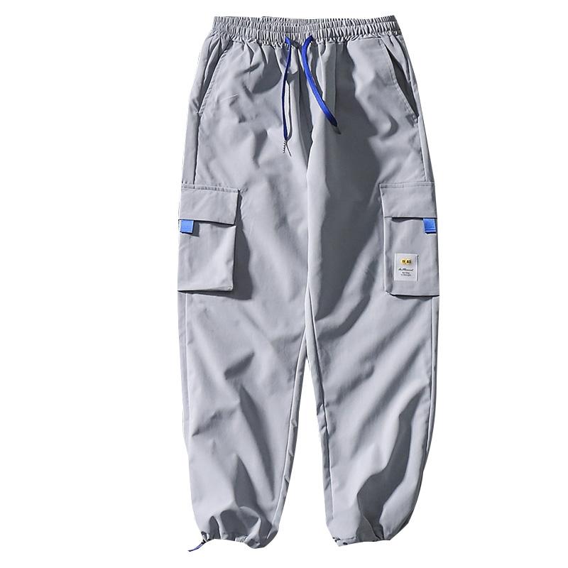 春夏潮牌男多口袋宽松束脚裤工装裤使用评测分享