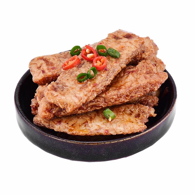 手撕素肉吃的香辣味蛋白素牛肉