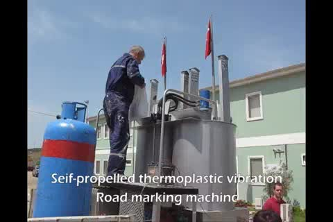 Hydraulic Double-Cylinder automatic temperature control Thermoplastic paints pre-heatering machine, paints melting machine