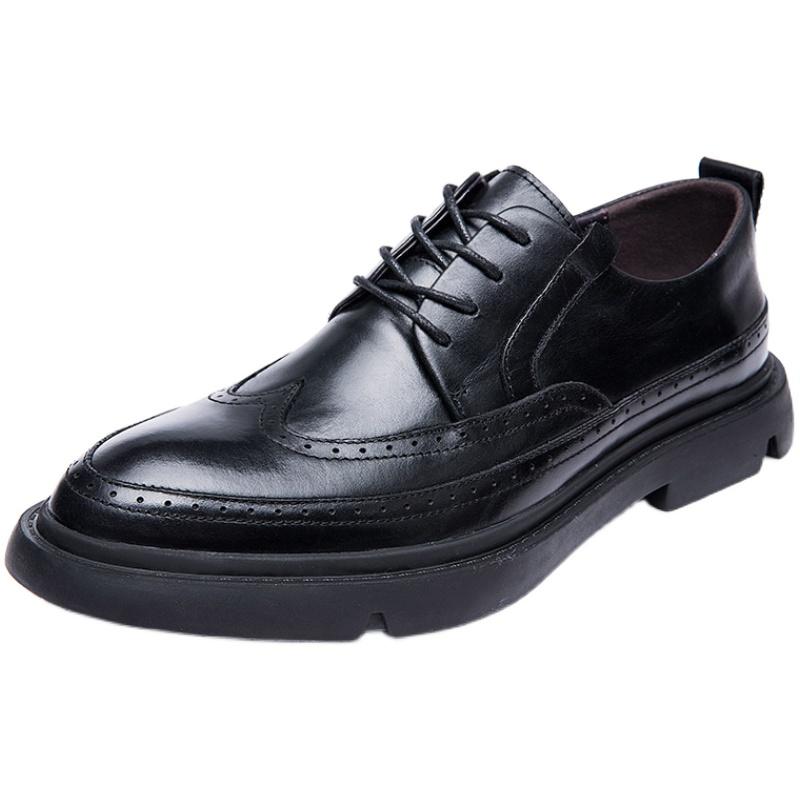 布洛克男士复古真皮百搭潮流皮鞋好用吗