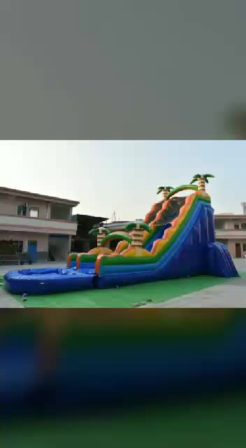 22ft juegos inflables china commercial grade inflatable rental used water slide wholesale