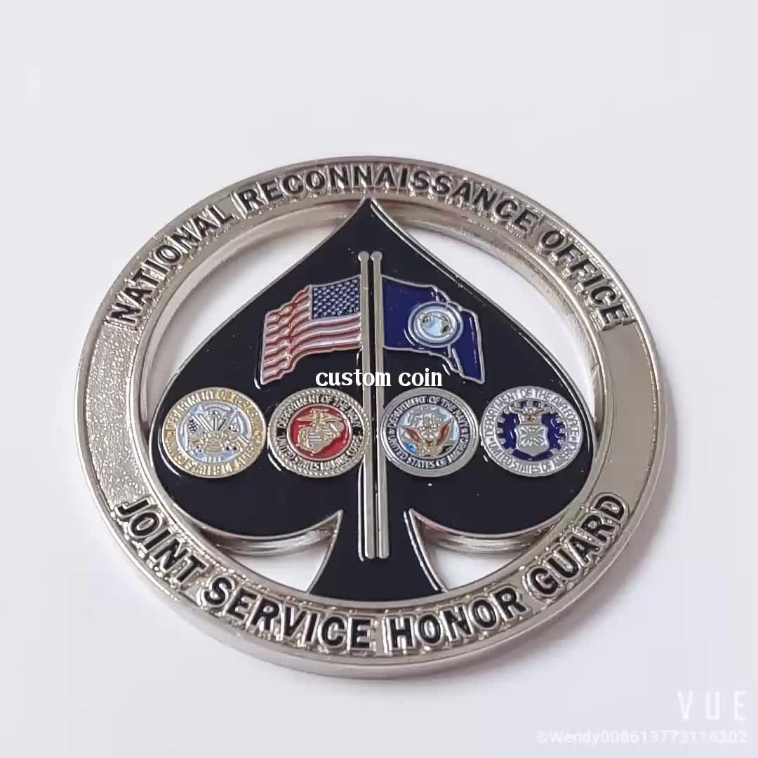 Custom 3d Design Round Shape Printing Challenge Coin For Promotional Gifts  - Buy 3d Printing Coin,3d Design Coin,3d Challenge Coin Product on