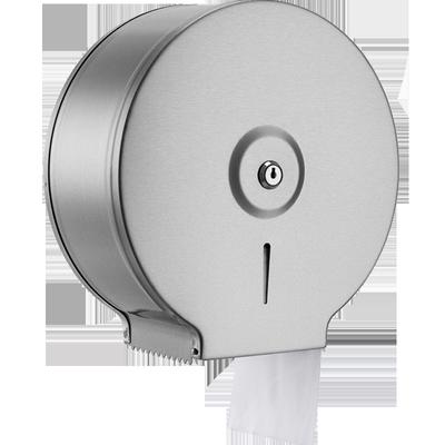 不锈钢304公用大卷纸抽盒大盘卫生间家用厕所手纸巾盒防水免打孔