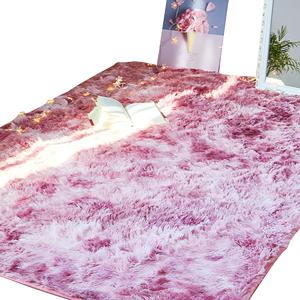 卧室ins北欧风家用满铺可爱床边毯