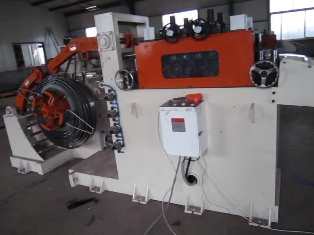 steel coil uncoiler and straightener machine,2 in 1,manual uncoiling machine