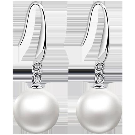 925纯银珍珠女长款气质网红的耳钉