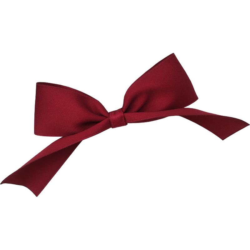 陈小纭同款大蝴蝶结发夹酒红可爱兔耳朵发饰立体顶夹鸭嘴夹头饰女