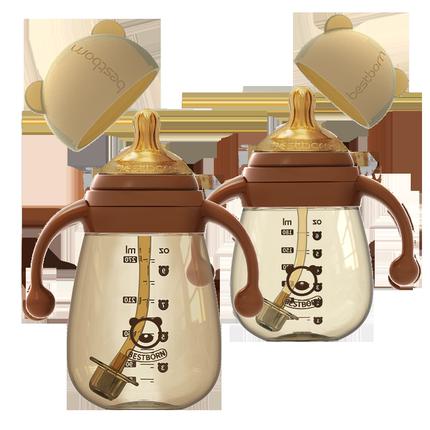 贝适邦ppsu材质耐摔宽口径新生奶瓶