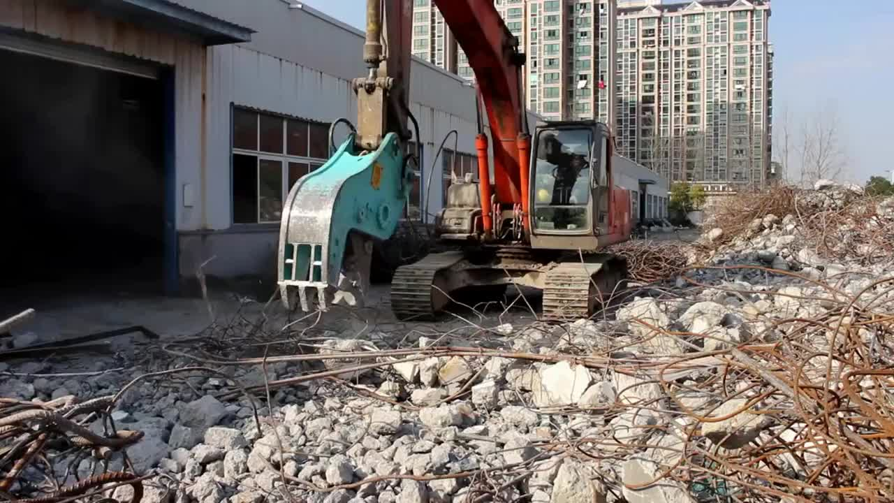 China Excavator Demolition Machine Concrete Crusher Hydraulic Rotating Pulverizer For Sale