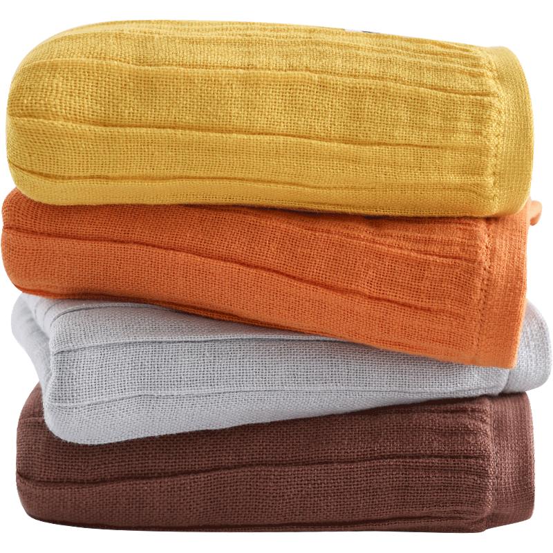纱布毛巾洗脸巾大人用全棉沙布纯棉成人家用中号薄双面棉纱长方形