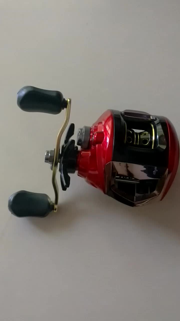 10+1BB 6.3:1 Left Right Handle Optional Metal Bait casting Trolling Reel