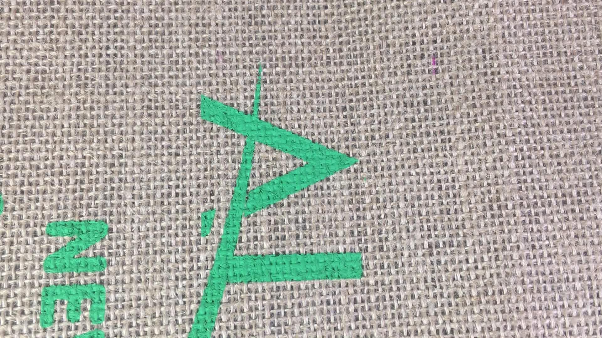 Réutilisable D'épicerie Grand Hessian Jute Fourre-Tout Logo Personnalisé Chanvre Jute Sac À Provisions