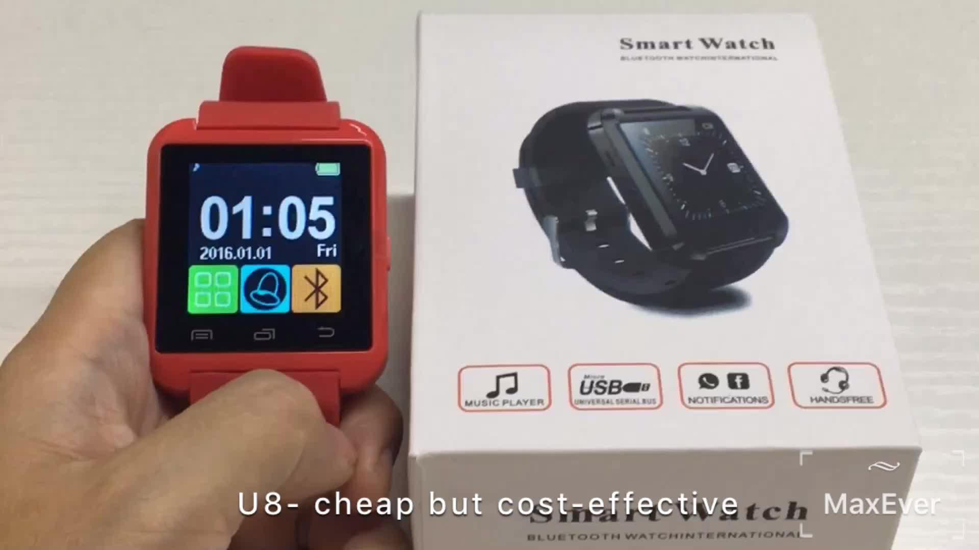 Cheap Price OEM BT Watch Reloj inteligente OEM Cheap Smart Watch U8