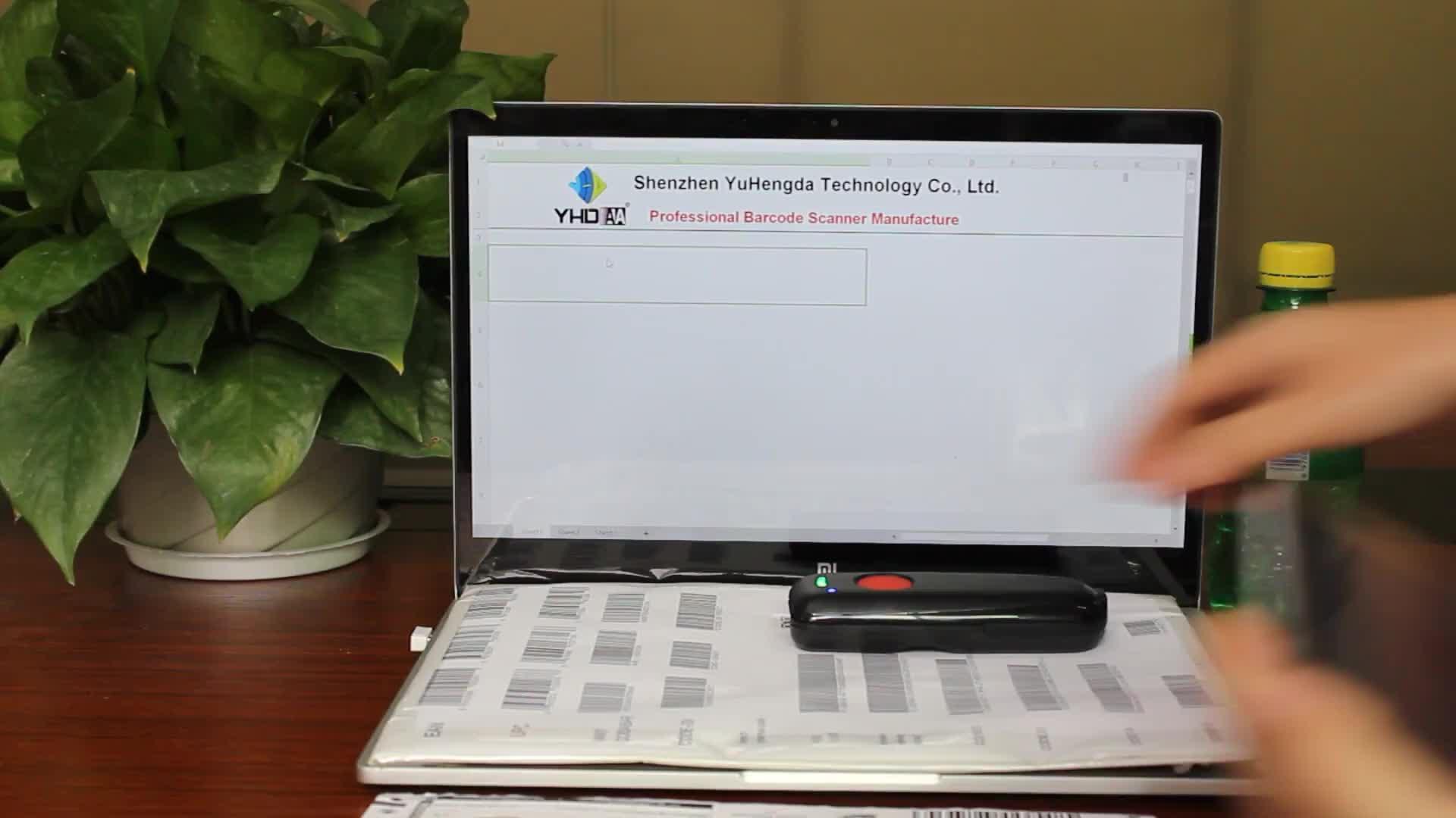 Bluetooth portatile 2D Lettore di Codici A Barre Mobile CMOS Scanner di Codici a Barre per il Supermercato Vendita Al Dettaglio
