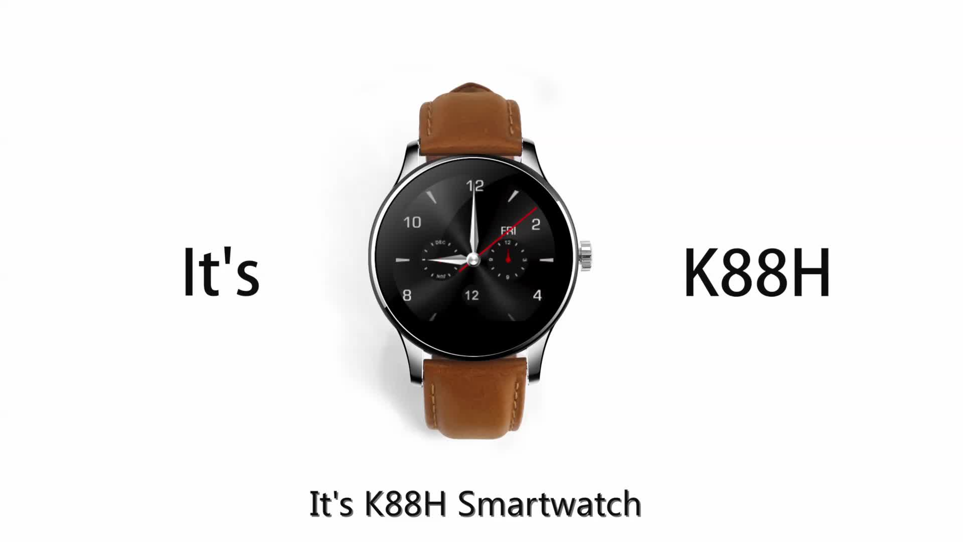 """High Quality 1.22"""" IPS Round Screen MTK2502 Heart Rate Monitor Waterproof Smart Watch K88H For Android and IOS"""