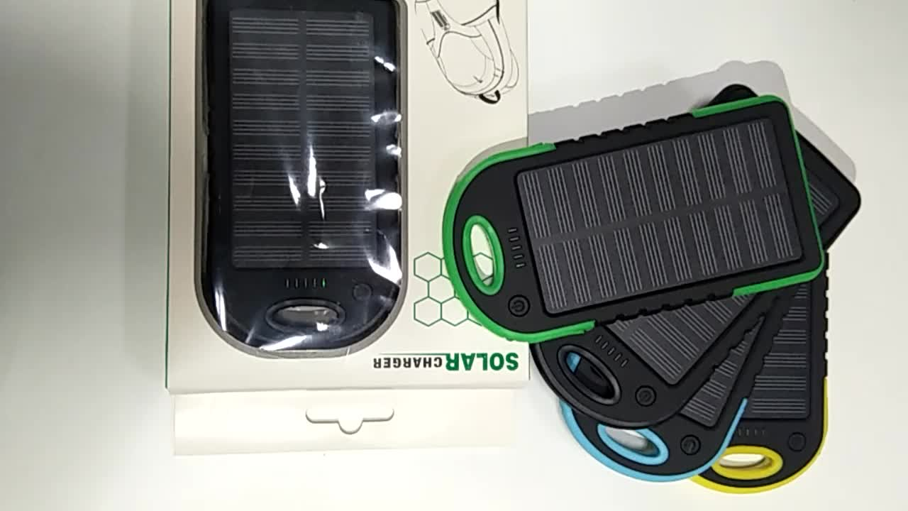 Wholesale Mobile Charger 10000MAH Solar Power Bank