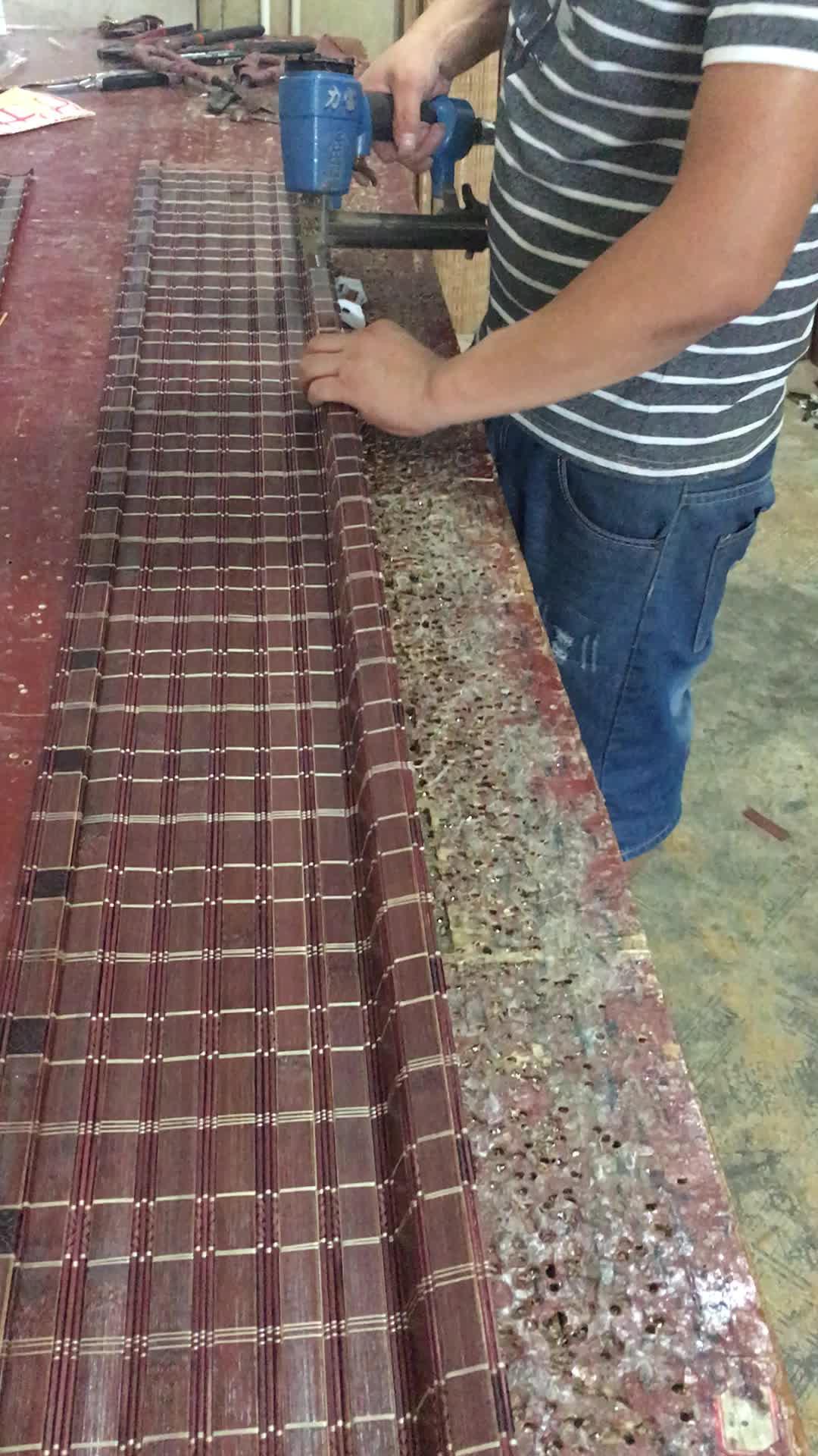 Popular caliente hecho a mano cortina clásica cómoda de palo de bambú cortina