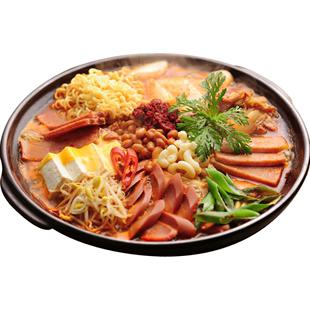 WOAIOBA部队火锅组合芝士年糕套餐