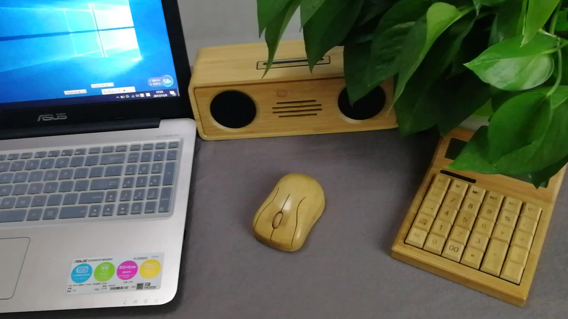 Оптовая продажа Заказная гладкая причудливая компьютерная мышь oem eco fierndly бамбуковая деревянная мышь