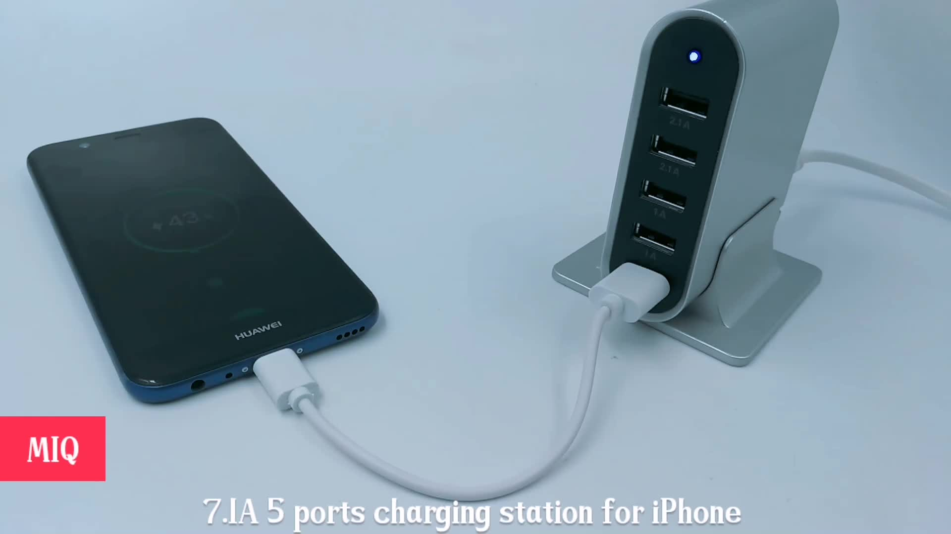 MIQ Multi usb charger desktop charger station with AC power plug
