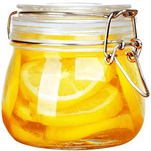玻璃子蜂蜜檸檬食品罐頭瓶罐密封罐