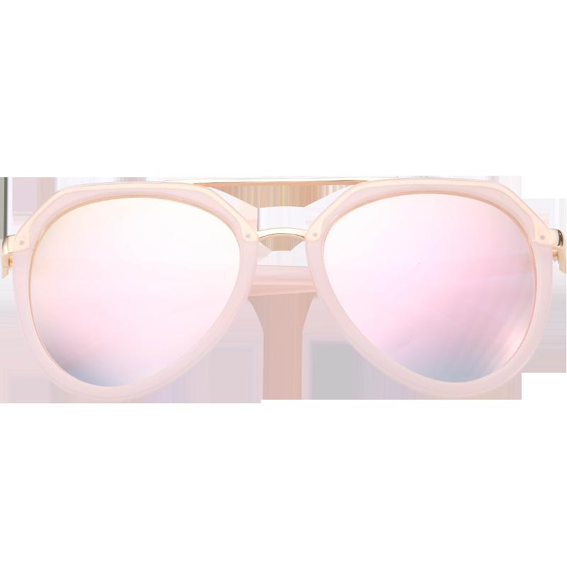 妖精墨镜潮太阳镜女士圆脸明星同款眼镜圆形复古大框个性2019新款