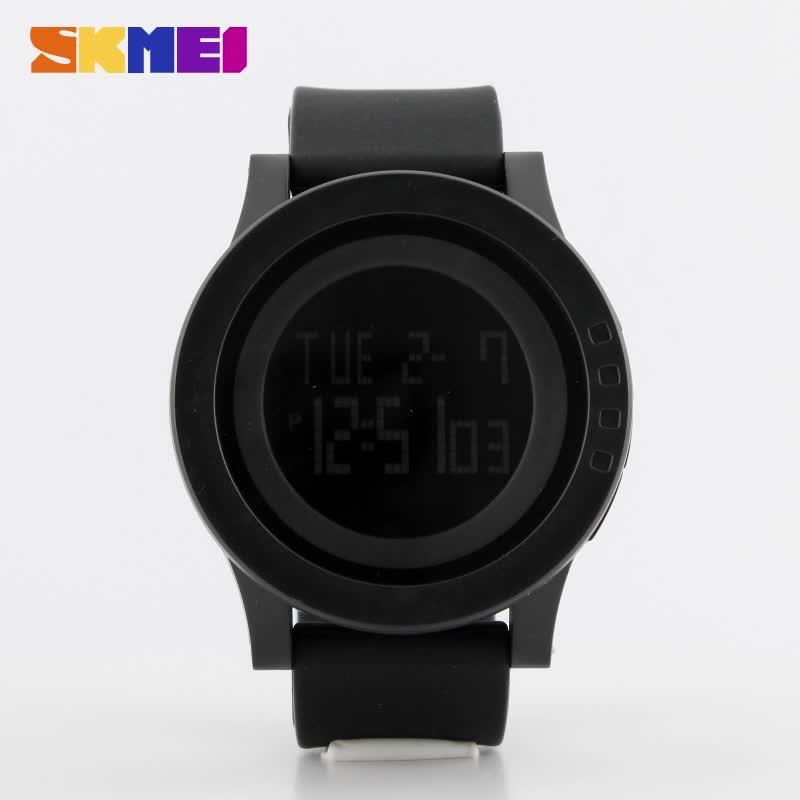 Skmei 1142 la dernière marque de conception numérique poignet montres montre de gelée de silicone