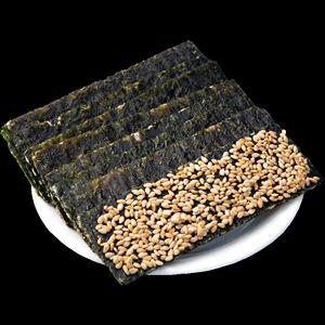芝麻夹心脆罐装即食大片无添加海苔
