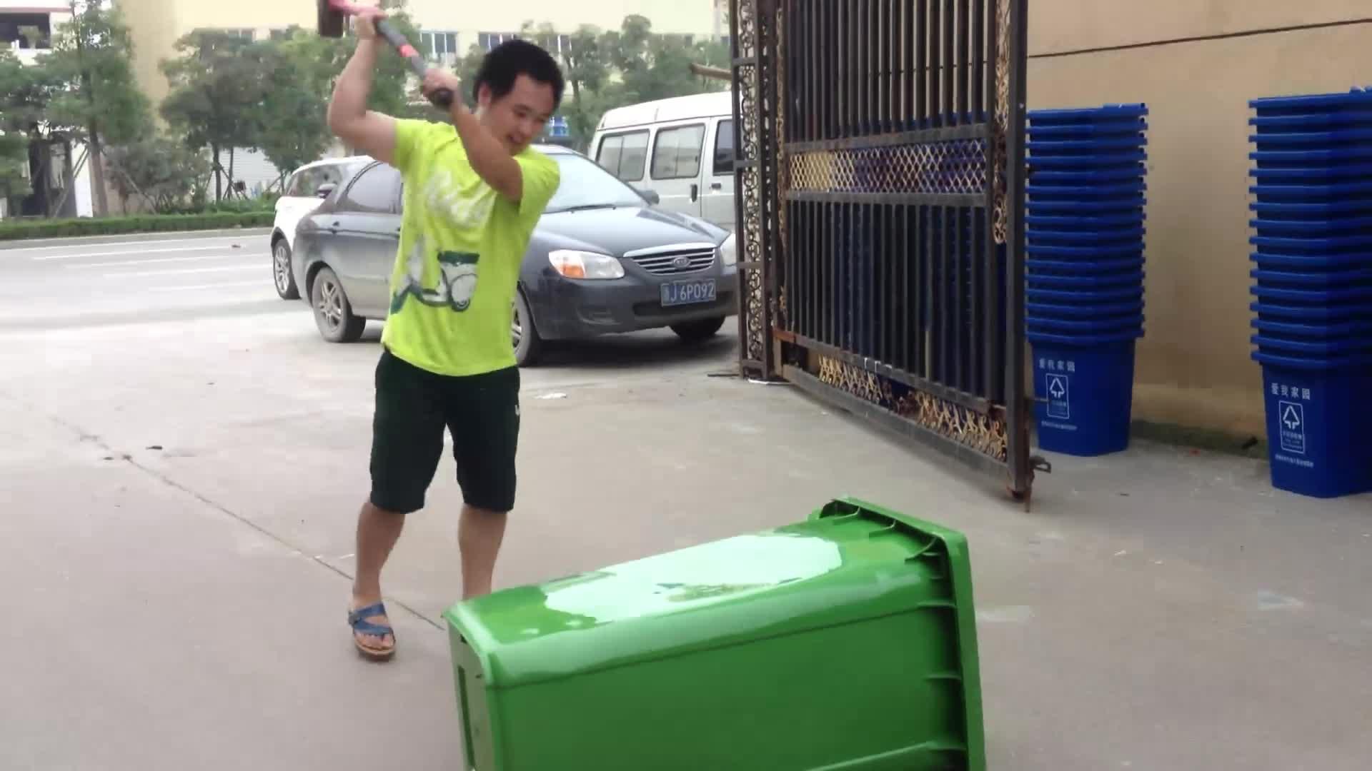 50-1100 liter Virgin HDPE wheelie bins