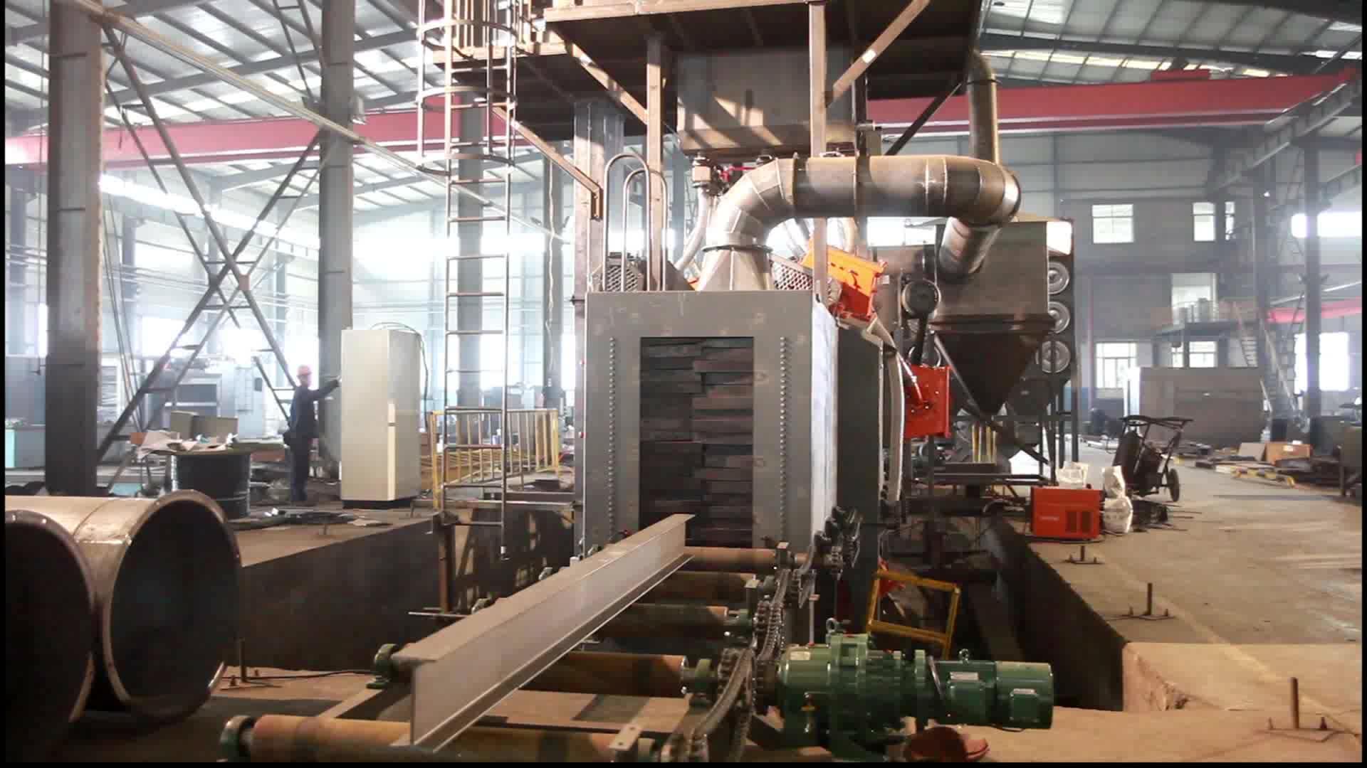 Q69 serisi çelik kumlama makinesi/atış patlatma ekipmanı fiyat