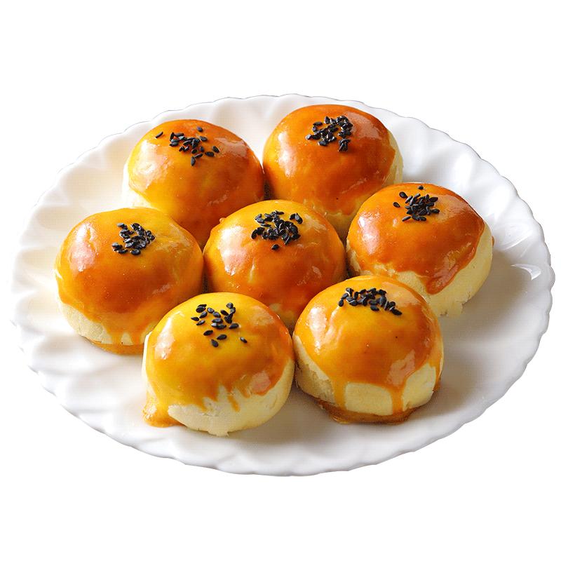 其妙海鸭蛋蛋黄酥麻薯雪媚娘早餐面包整箱吃的小零食小吃休闲食品