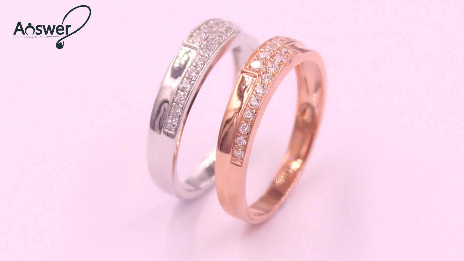 Simple Design Light Weight Promise Gold Ring - Buy Promise Ring ...