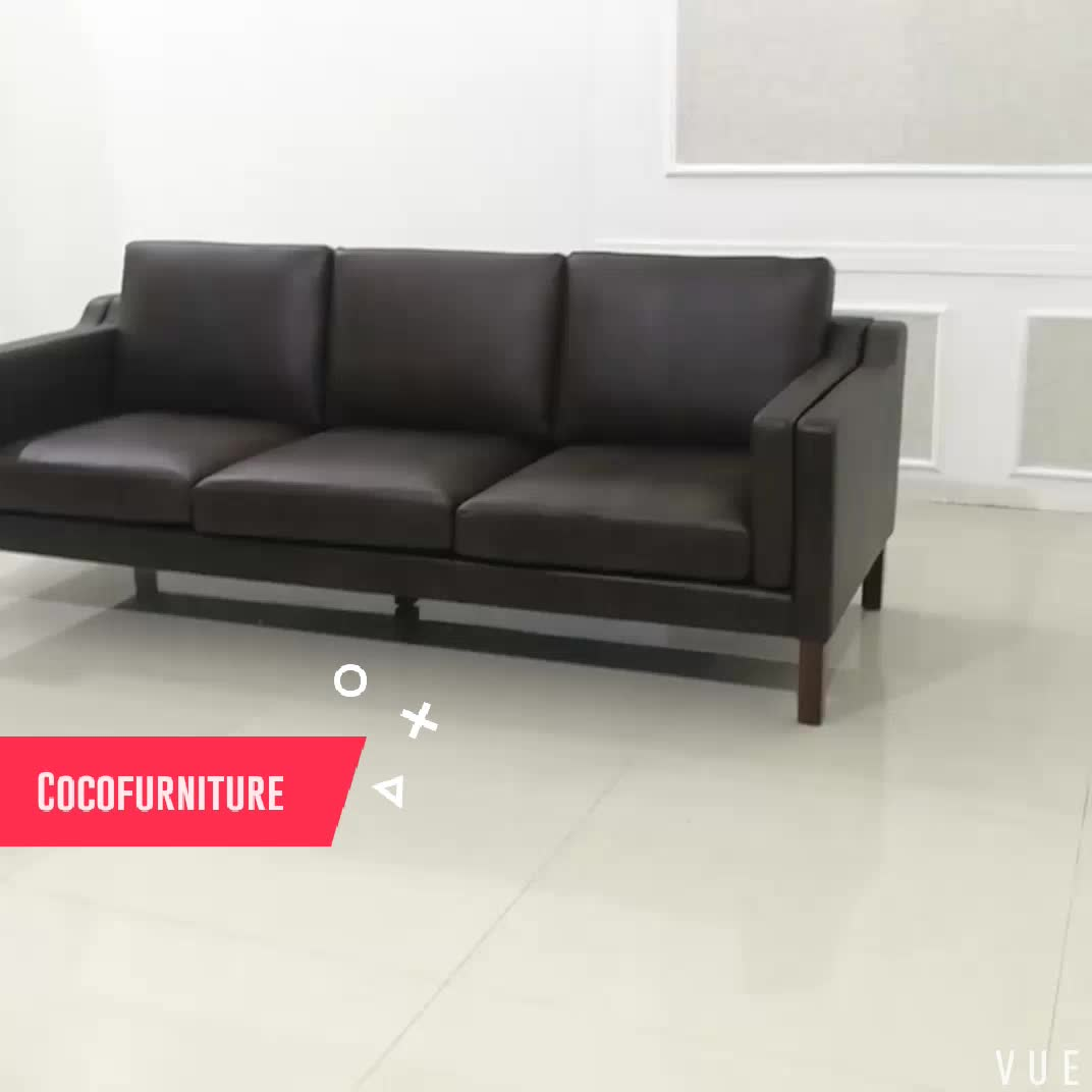 Replica furniture leather sofa designer couch for for Designer sofa replica