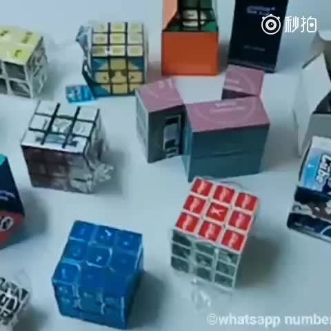 promotional folding square factory infinity magic cubes