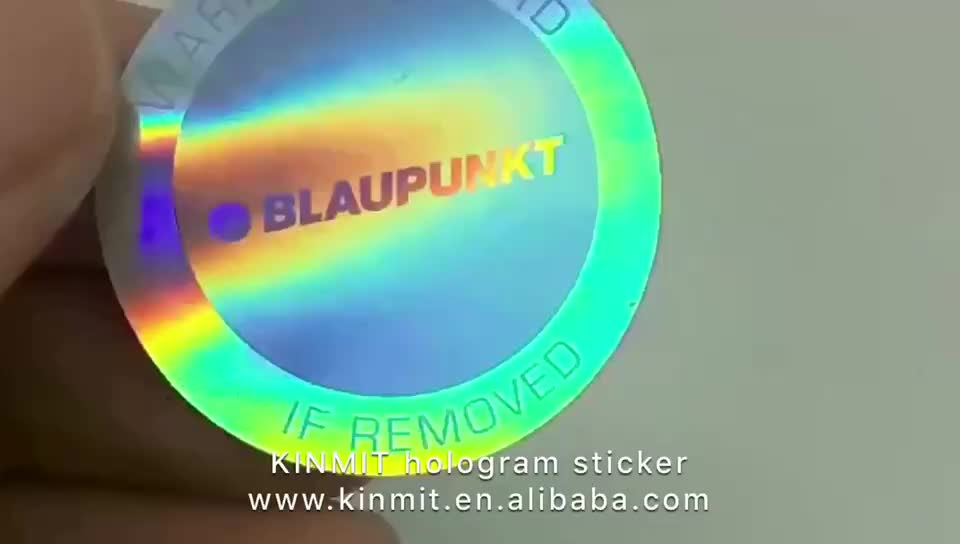 Kinmit Factory High Quality 3D Hologram/Laser Sticker Label Printing