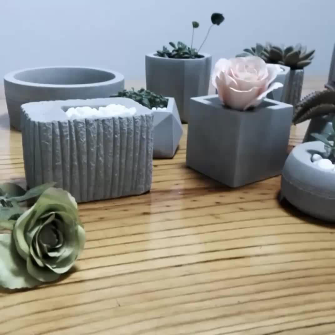 cheap office plants. Cheap Square Indoor Plants Decorative Garden Office Cement Flower Pots