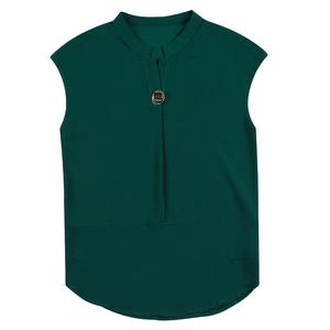 妈妈重磅短袖2020夏季宽松v领衬衫